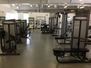 image of weights in fitness centre