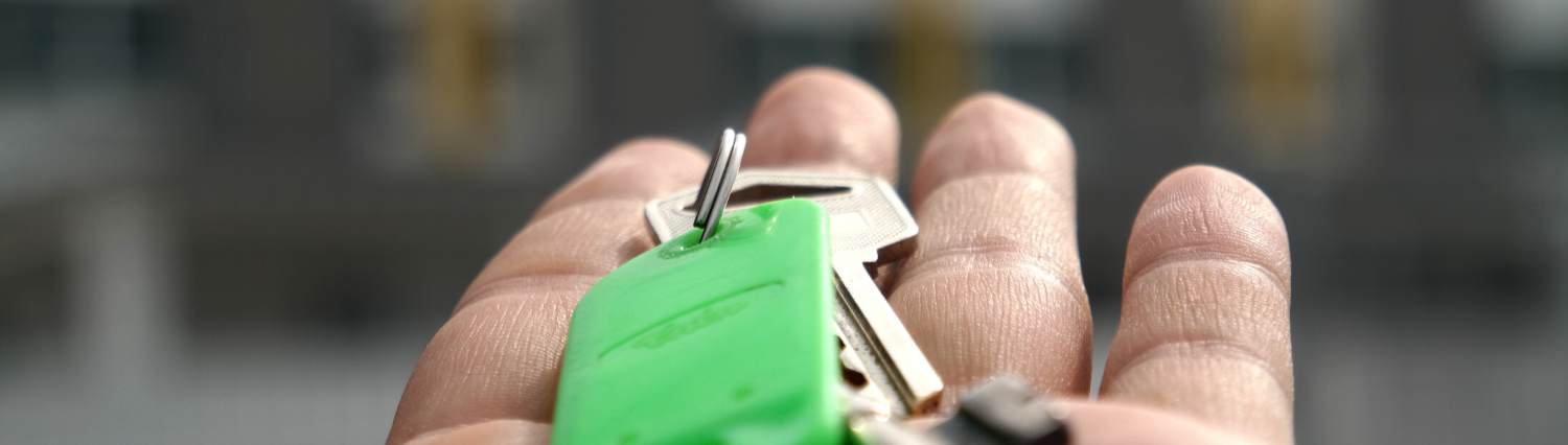 Property Standards banner image of hand with keys