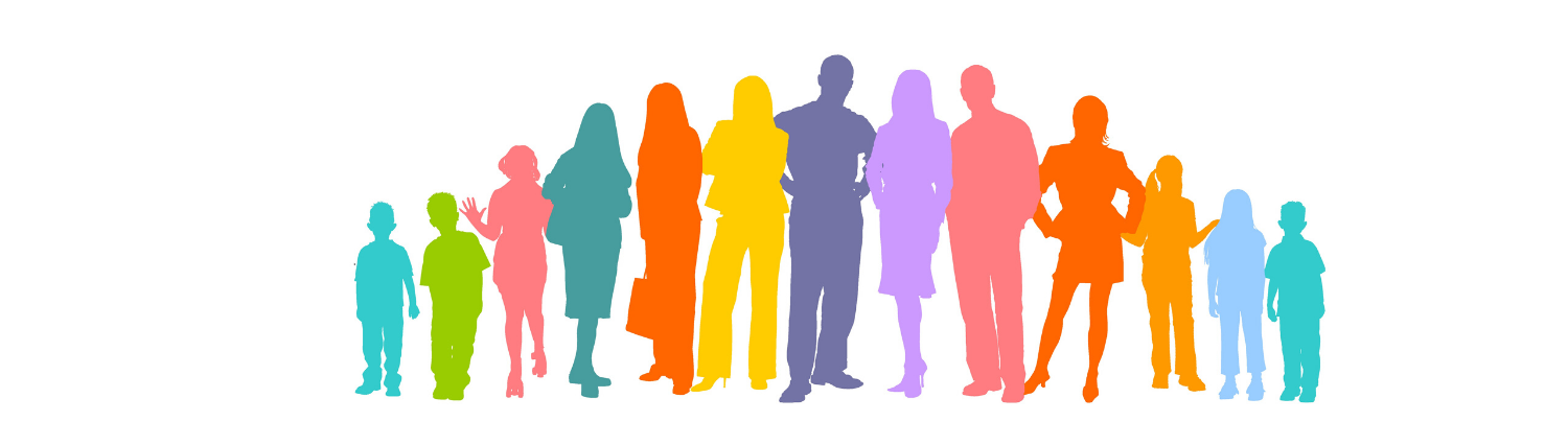 community improvment plan banner image of people silhouette